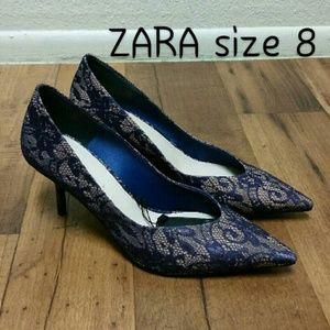 Zara purple heels size 8